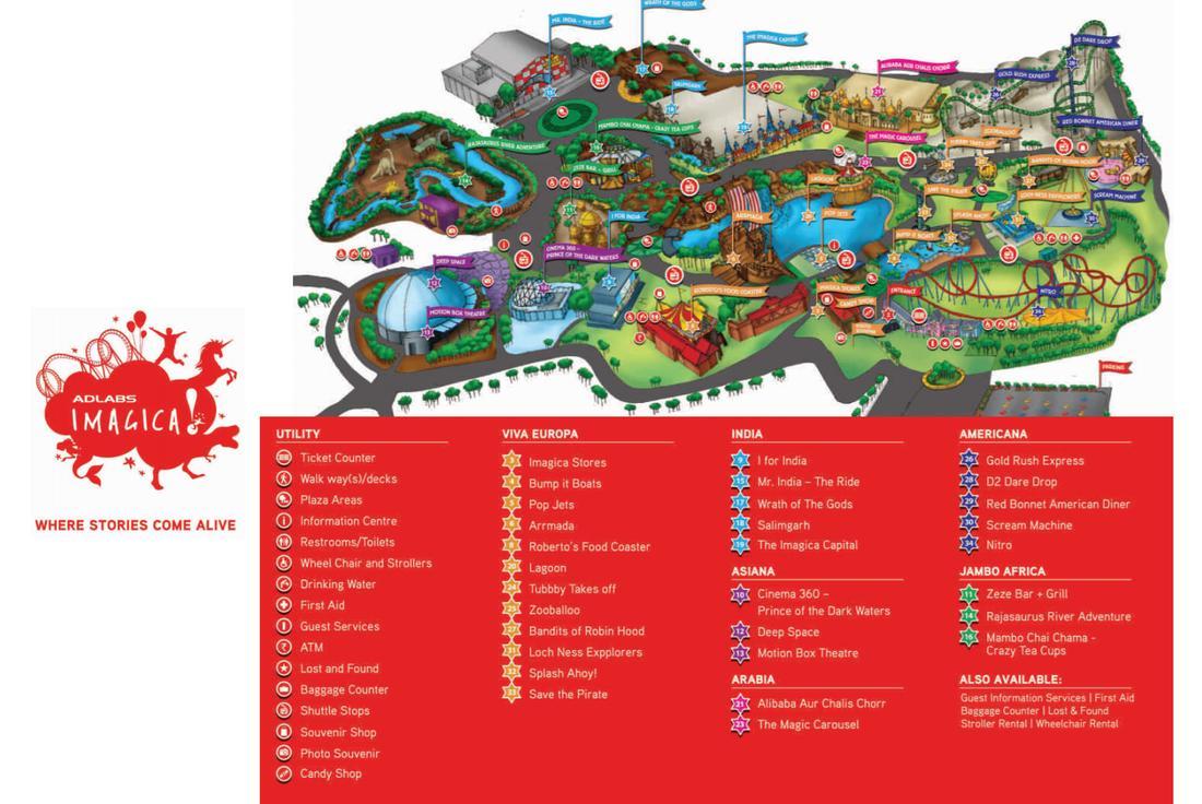 Map of Imagica Mumbai map Mumbai