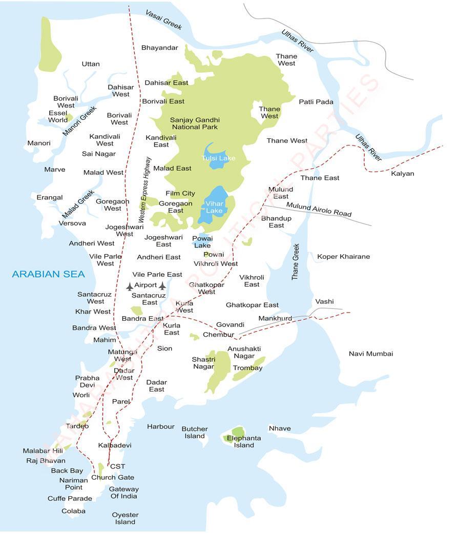 mumbai suburbs map