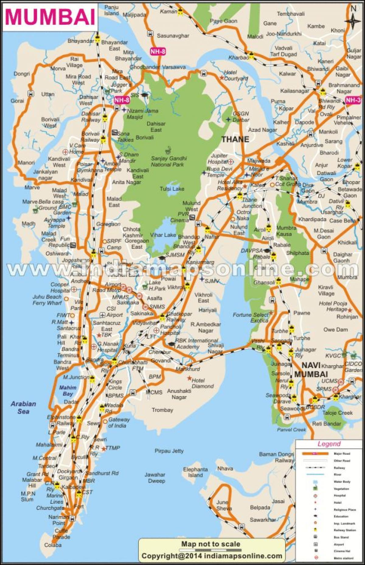 Mumbai On Map Of India.Mumbai Map Mumbai On Map Maharashtra India