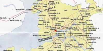 Mumbai Bombay map Maps Mumbai Bombay Maharashtra India